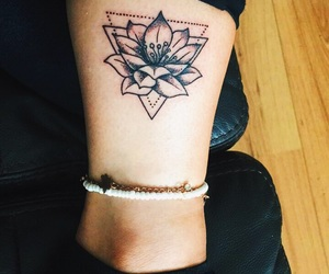 lotus flower, tattoo, and small tattoo image