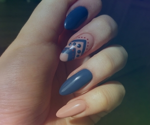 136, blue, and nails image