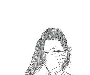 girl, outline, and tumblr image