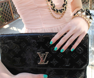 dress, Louis Vuitton, and fashion image