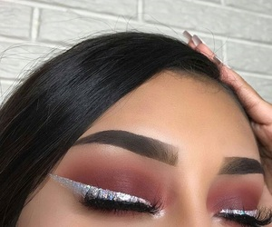 burgundy, fall, and lashes image