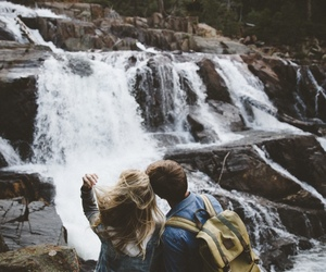 nature and couple image