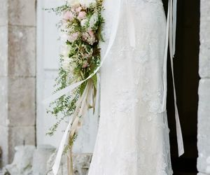 beautiful, dress, and flores image