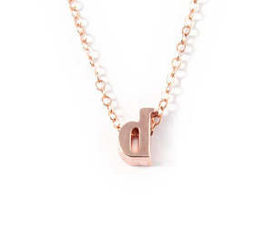 etsy, initial necklace, and rose gold necklace image