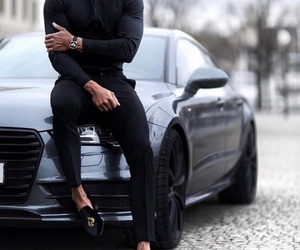 black, style, and men's fashion image