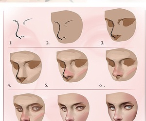 digital, nose, and draw tutorial image