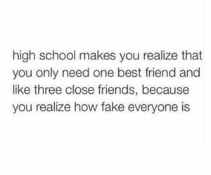 best friends, high school, and school image