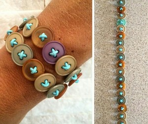 bracelet, button, and craft image