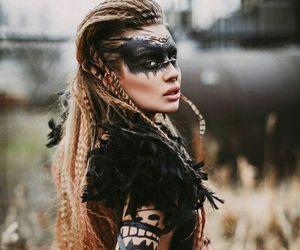 girl, makeup, and warrior image