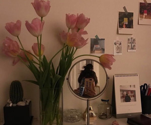 aesthetic, flowers, and tulips image