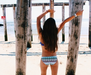artsy, bathing suit, and beach image