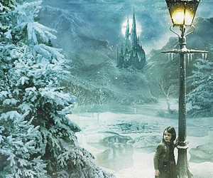 narnia, Lucy, and snow image