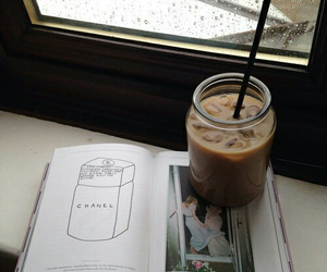 brown, drawing, and iced coffee image