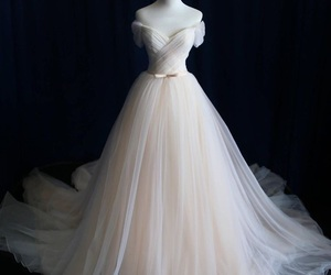 wedding dress, dress, and white image