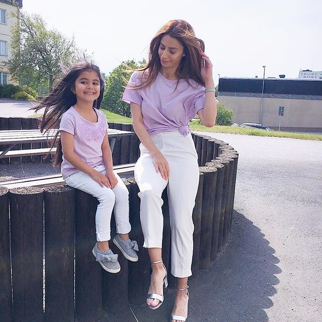 daughter, baby, and fashion image