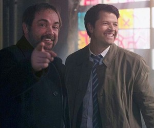 supernatural, crowley, and castiel image