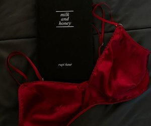 red, fashion, and bra image