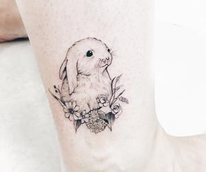 animal, body art, and bunny image