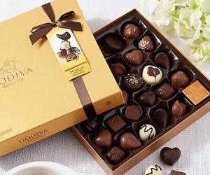 box, chocolate, and classy image