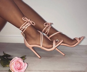 luxury, pink shoes, and shoes image