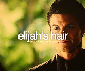 the vampire diaries, elijah mikaelson, and elijah's hair image