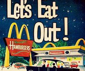 hamburger and McDonalds image