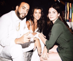 model, kourtney kardashian, and french montana image