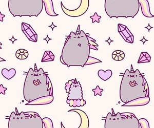wallpaper, unicorn, and cat image