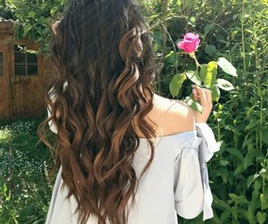 beautiful, curly hair, and fashion image