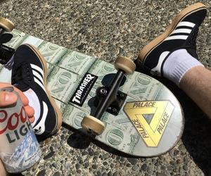 skate, skateboarding, and street image