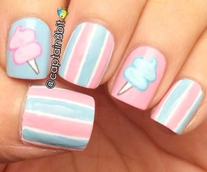 blue, candy, and cotton candy image