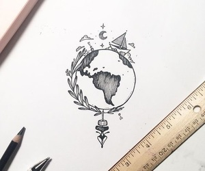 drawing, art, and world image