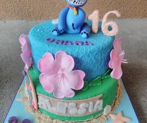 beach, cake, and birthday image