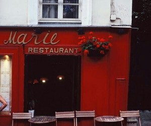 red, theme, and restaurant image