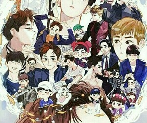 exo, 엑소 , and suho image