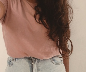 basics, boyfriend jeans, and casual image