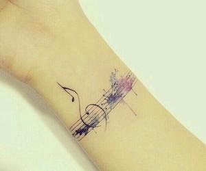 music and tattoo image