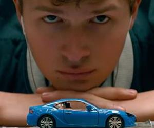 baby driver, edgar wright, and ansel elgort image
