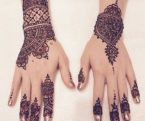 mehndi, hennas, and henna tattoos image