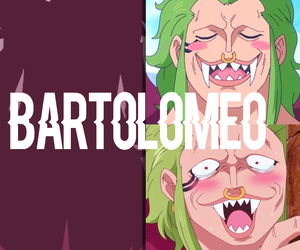 one piece, bartoloméo, and one piece bartolomeo image