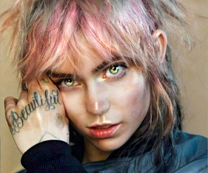 grimes, tattoo, and hair image