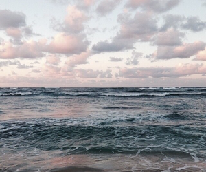 clouds, sky, and ocean image