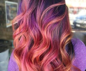beautiful, hair color, and colorful image