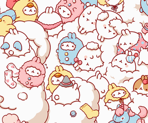 Chicken, cute, and molang image