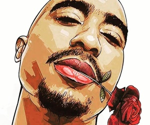 tupac, 2pac, and drawing image