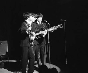 b&w, the beatles, and bands image
