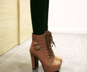 ankle boots, heels, and beautiful image