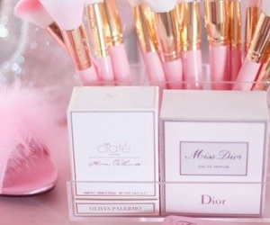 pink, makeup, and dior image