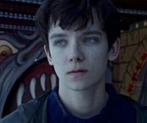 blue eyes, sad, and white skin image