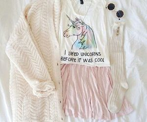 unicorn, fashion, and outfit image